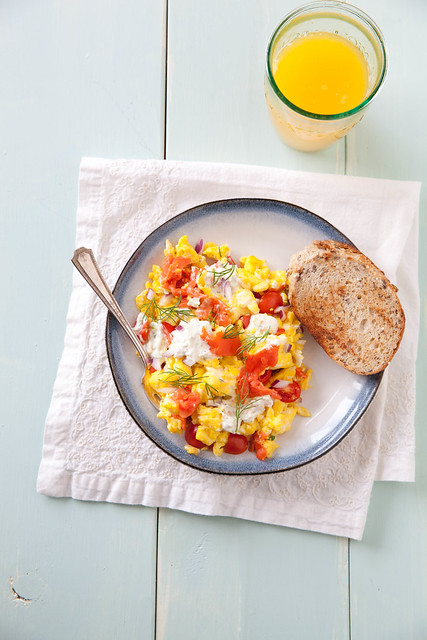 Smoked Salmon Egg Scramble