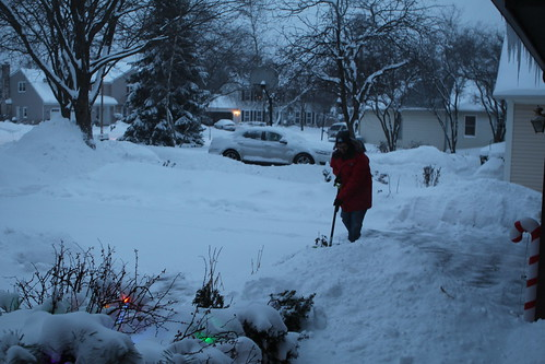 Shoveling After Work