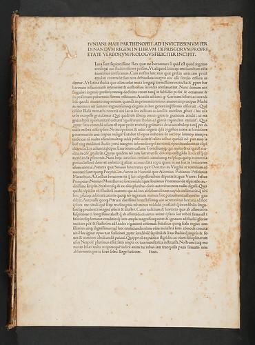 Title incipit in Maius, Junianus: De priscorum proprietate verborum