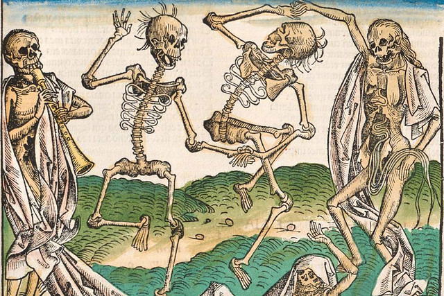 Totentanz by Michael Wolgemut (1434–1519) from the Nuremberg Chronicle (1492)