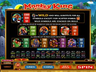 Monkey King Slots Payout