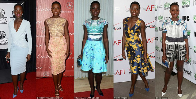 2014 shoe trend, Pilotto Resort 2014 printed top, shorts, Lupita Nyong'o, Lupita Nyong'o style, steal Lupita Nyong'o's style, Lupita Nyong'o style, Lupita Nyong'o Red Carpet Style, Mary Kantrantzou dress, how to dress like Lupita Nyong'o