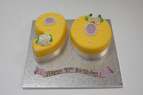 Pretty 90th Cake