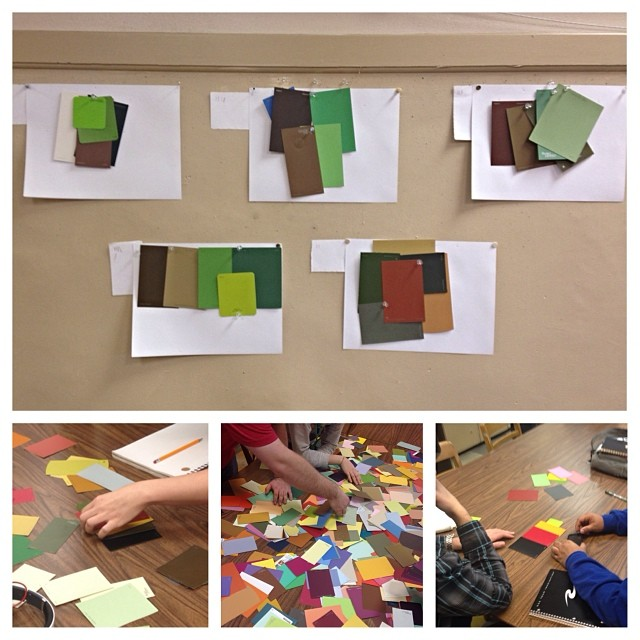 Had fun building color schemes with my students in class today.