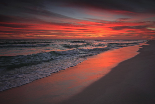 sunset red beach gulfofmexico florida okaloosaisland