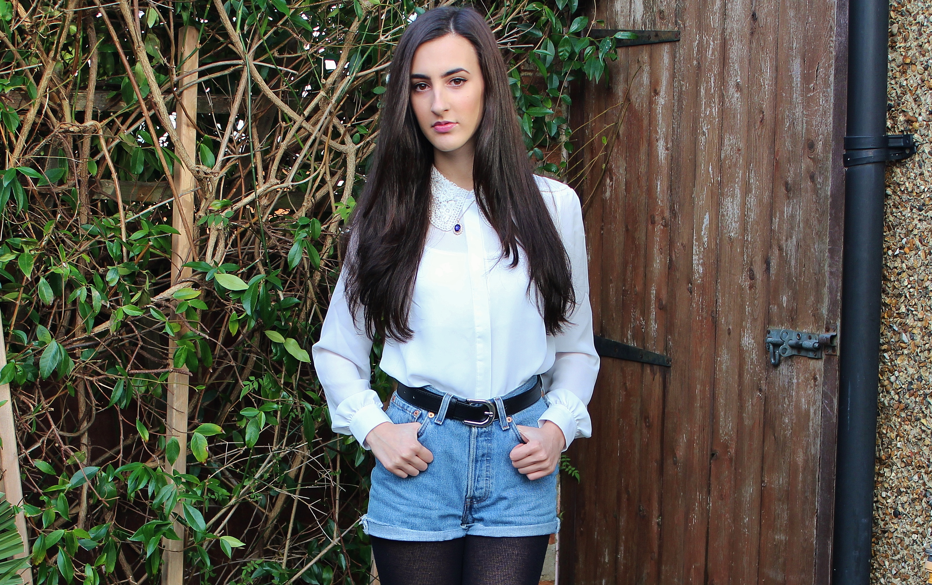 WHITES AND DENIM OOTD