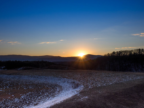 sunrise landscape massanutten