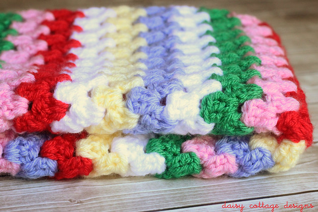 Granny Stripe Doll Blanket 2