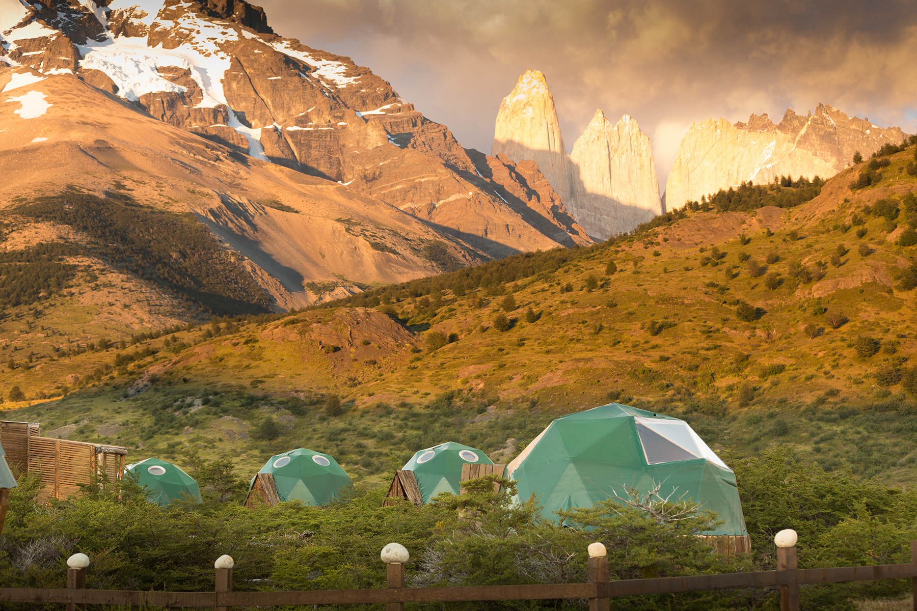 Standard domes in the heart of Torres del Paine National Park