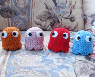 Pacman ghost plushies