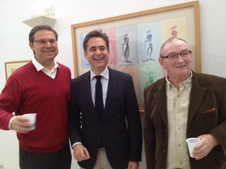 Xavier de Hennin, Partner, Blanca Real; Dr Álvaro Simón de Blas, Director General Euronova BIC; Roger Cummiskey, Artist.