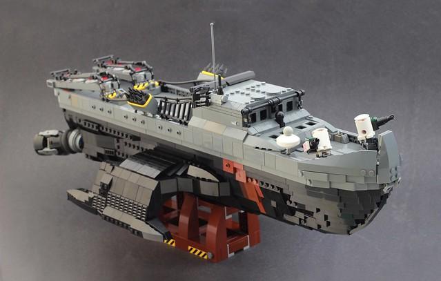 Bobcat Tri-Maran Minelayer ship.