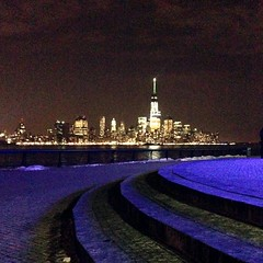 The XLVIII glow. #Hoboken