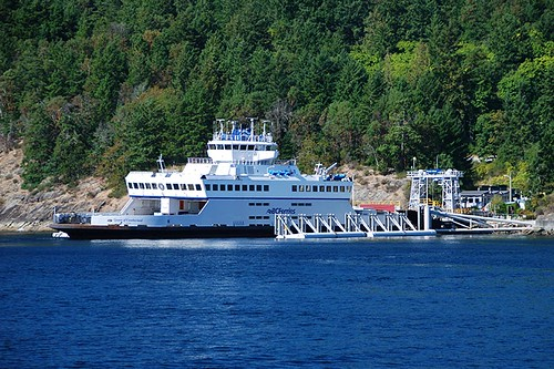 Otter Bay Ferry Terminal, Pender Island, Gulf Islands, Georgia Strait, British Columbia, Canada