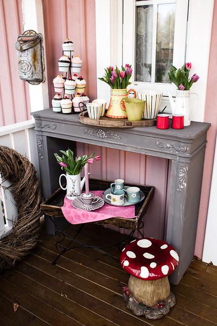 Porch Spring Decoration