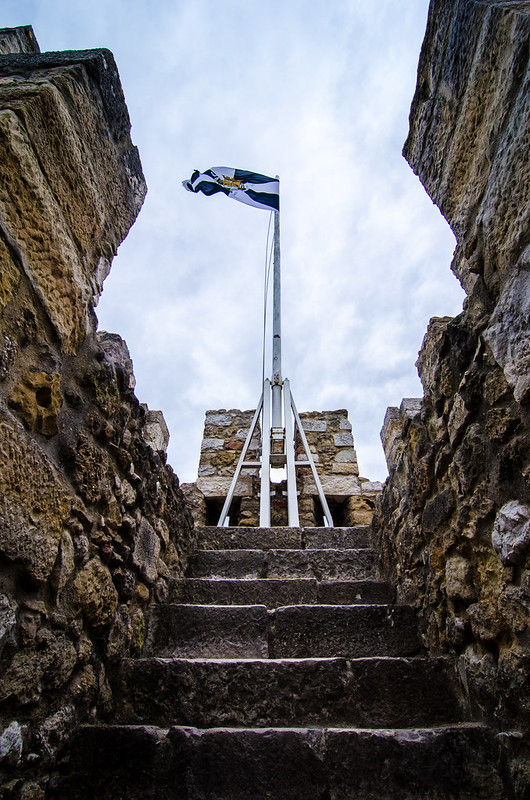 Climb the old stone steps to get the best views at Lisbon's St. George's Castle.