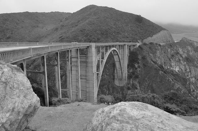 Bixby Bridge, B&W