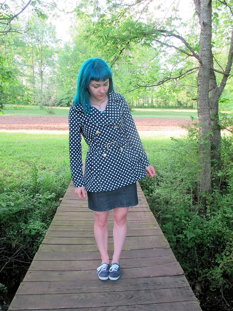Polkadot Robson made with reversible cotton/poly  from Mood Fabrics
