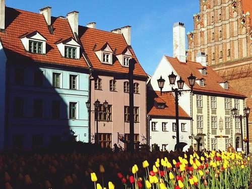 Riga. Kirchplatz Peterbaznica