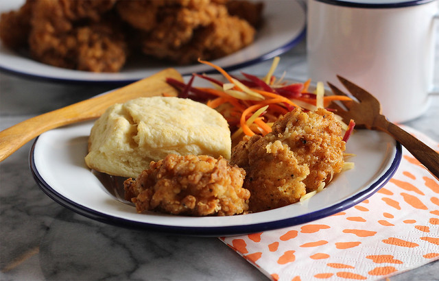 Rosemary-Brined Buttermilk Fried Chicken