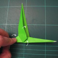 วิธีพับกระดาษเป็นรูปหอยทาก (origami Snail) 016