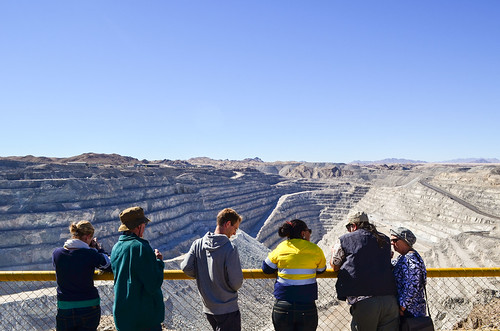 Open pit of the Rio Tinto Rössing uranium mine, Namibia