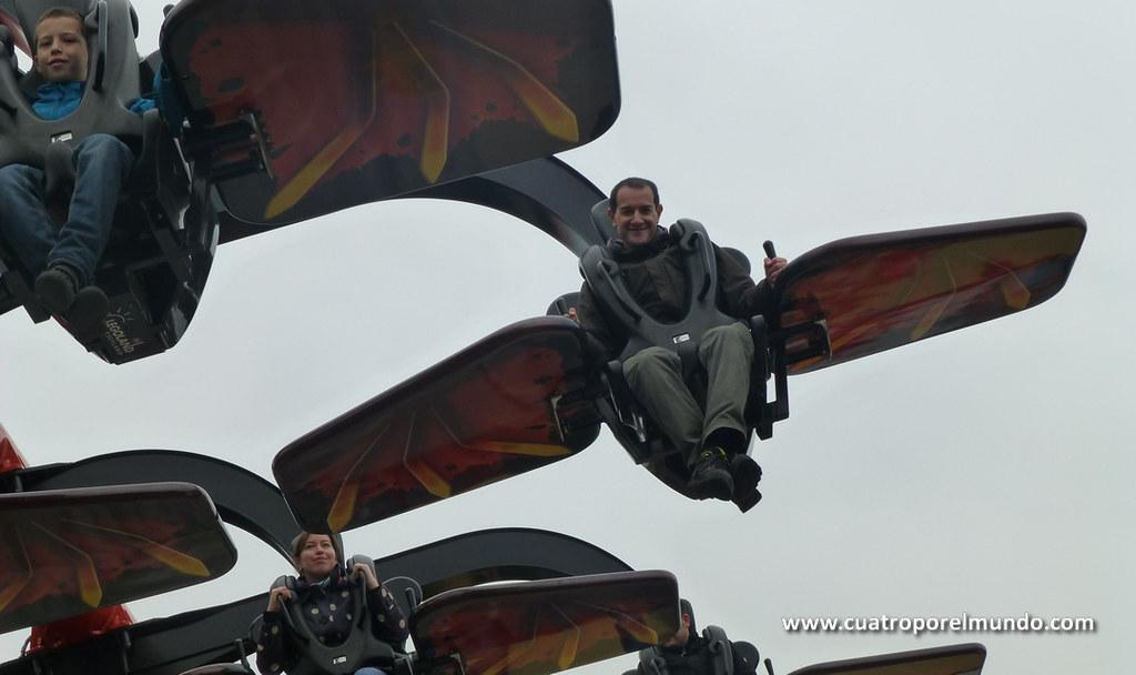 Montando en el Flying Ninjago
