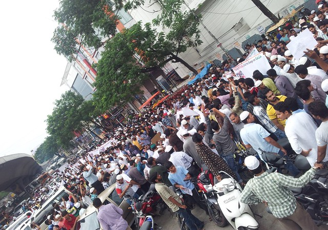 Protest in Mumbai