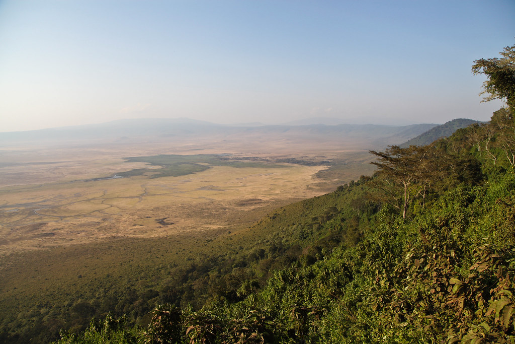 ngorongoro conservation area map northeast tanzania