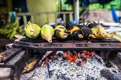 Grilled Corns Sold in Roadside Stall in Borneo