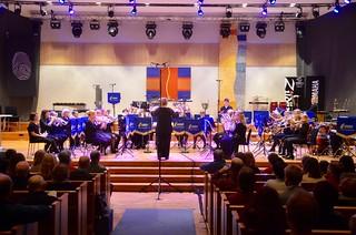 Éowyn Brass Band spelar på öppningsceremonin