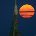 Supermoon and Expedition 50 Soyuz by NASA's Marshall Space Flight Center