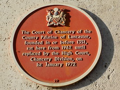 A Commemorative Plaque out Manchester Magistrates Court