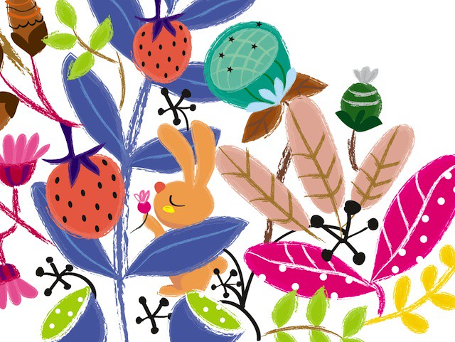 secret garden plate design detail