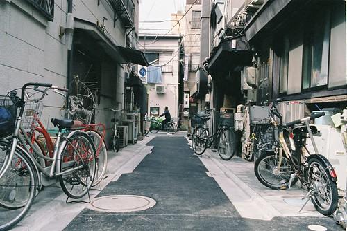 Bikes and alley, Asakusa, Tokyo