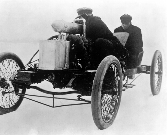 Henry Ford I Driving 999 Race Car