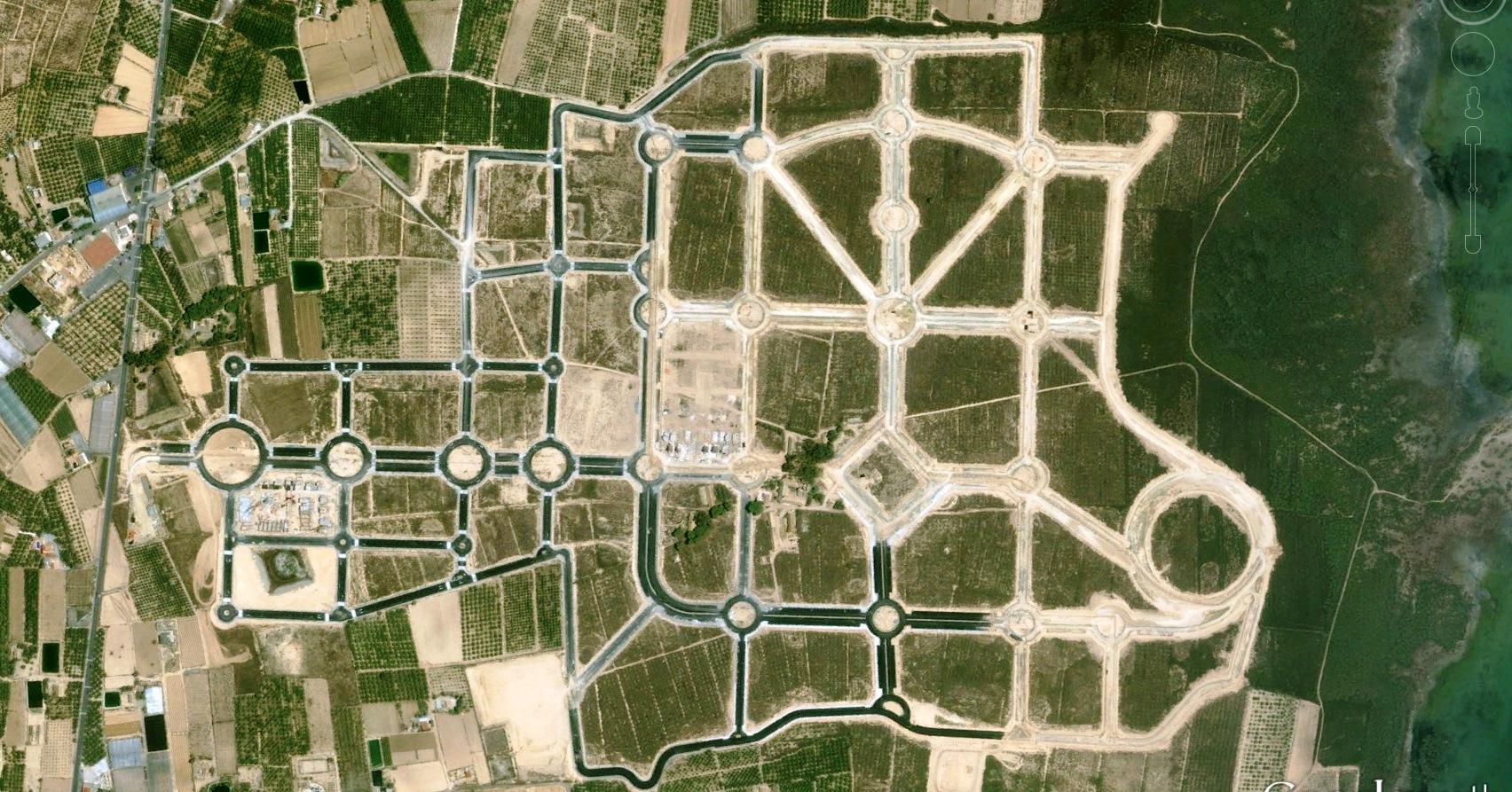 antes, urbanismo, foto aérea, desastre, urbanístico, planeamiento, urbano, construcción, campos de golf, Guardamar del Segura, Alicante