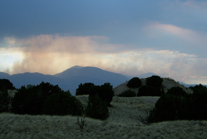 Haze of smoke emanating from the 2011 Las Conchas, NM fire.