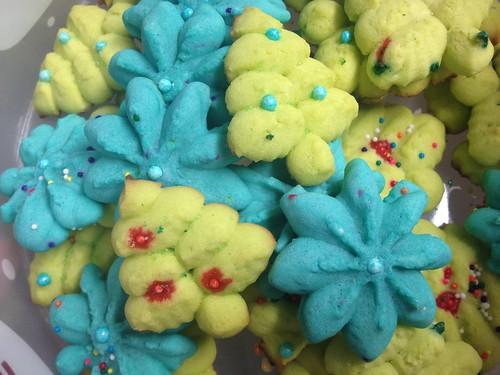 spritz cookies by Heather Says