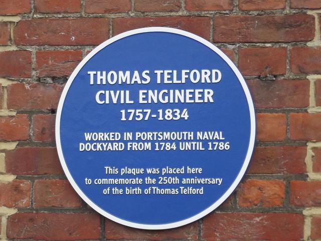 Photo of Thomas Telford blue plaque