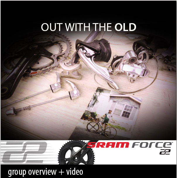 Out with the old in w. SRAM Force 22