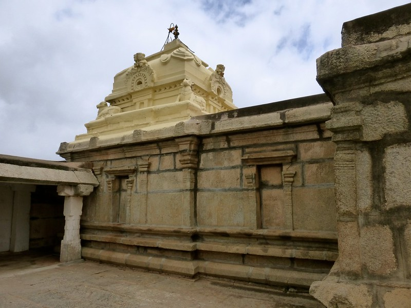 Cycling to Nandi Hills - inside the fort - Yoga Nandeeshwara temple