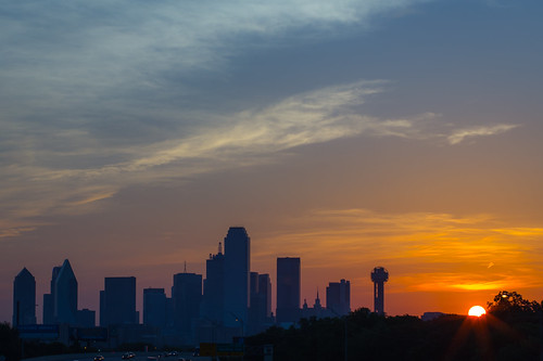 city sky sun skyline clouds sunrise dallas texas oakcliff dfw
