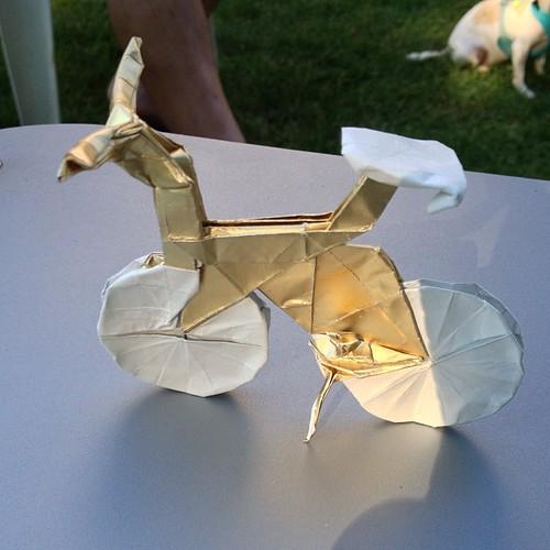 origami bicycle goodmorninggloucester