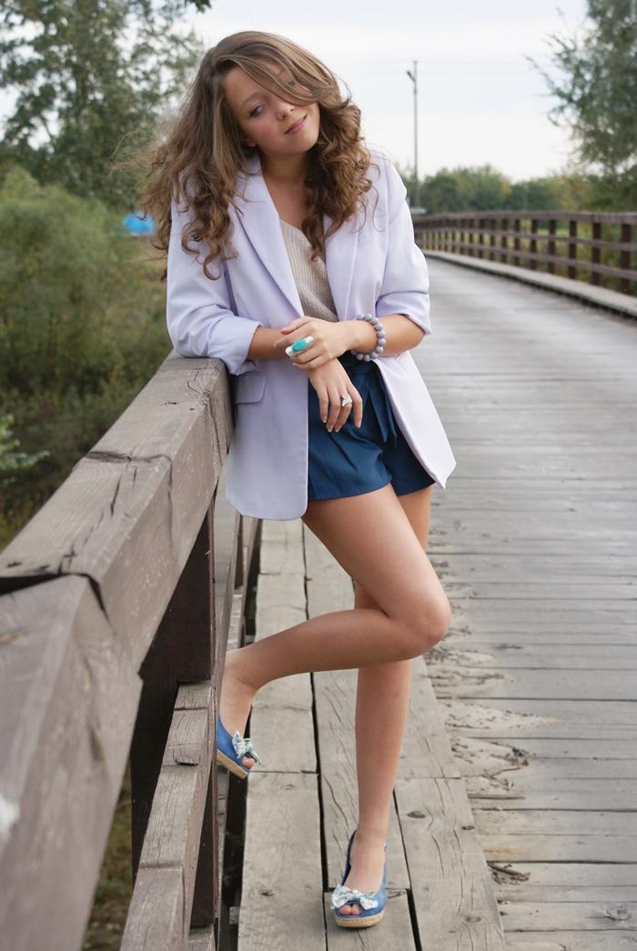 Liliowa marynarka