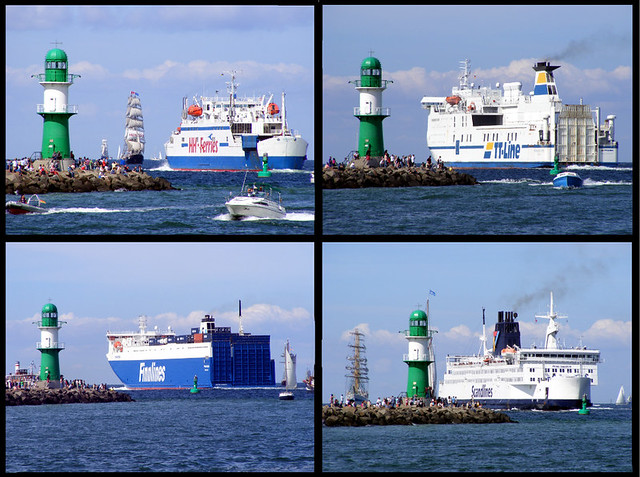 Ferries on the Baltic Sea
