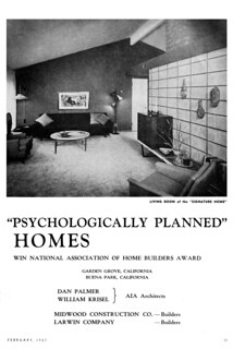 "Palmer & Krisel - ""Psychologically Planned"" Homes 2 of 8"