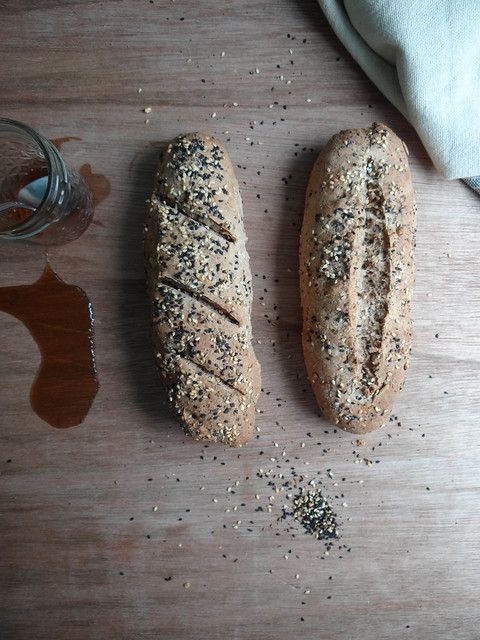 multi seeded baguettes