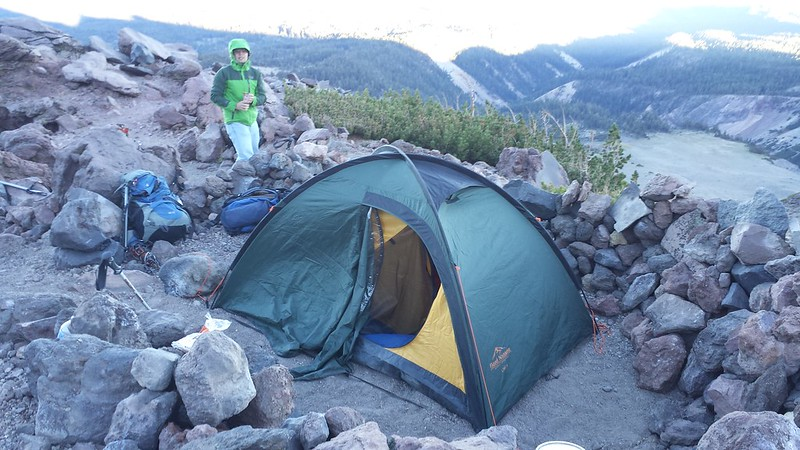 Pur camp on Mount Shasta