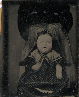 Baby in a Head Lock with Hidden Mother - Tintype
